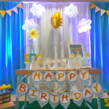 Cake Table and Backdrop Decor