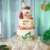 Caterpillar themed 1st Birthday Party Decor 11