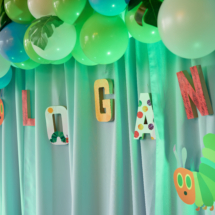 Caterpillar themed 1st Birthday Party Decor 31