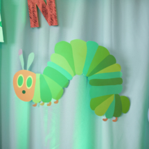 Caterpillar themed 1st Birthday Party Decor 37