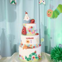 Caterpillar themed 1st Birthday Party Decor 42