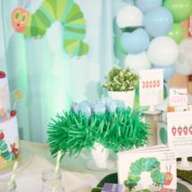 Caterpillar themed 1st Birthday Party Decor 43