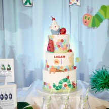 Caterpillar themed 1st Birthday Party Decor 46