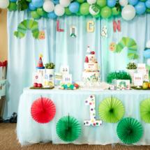 Caterpillar themed 1st Birthday Party Decor 8