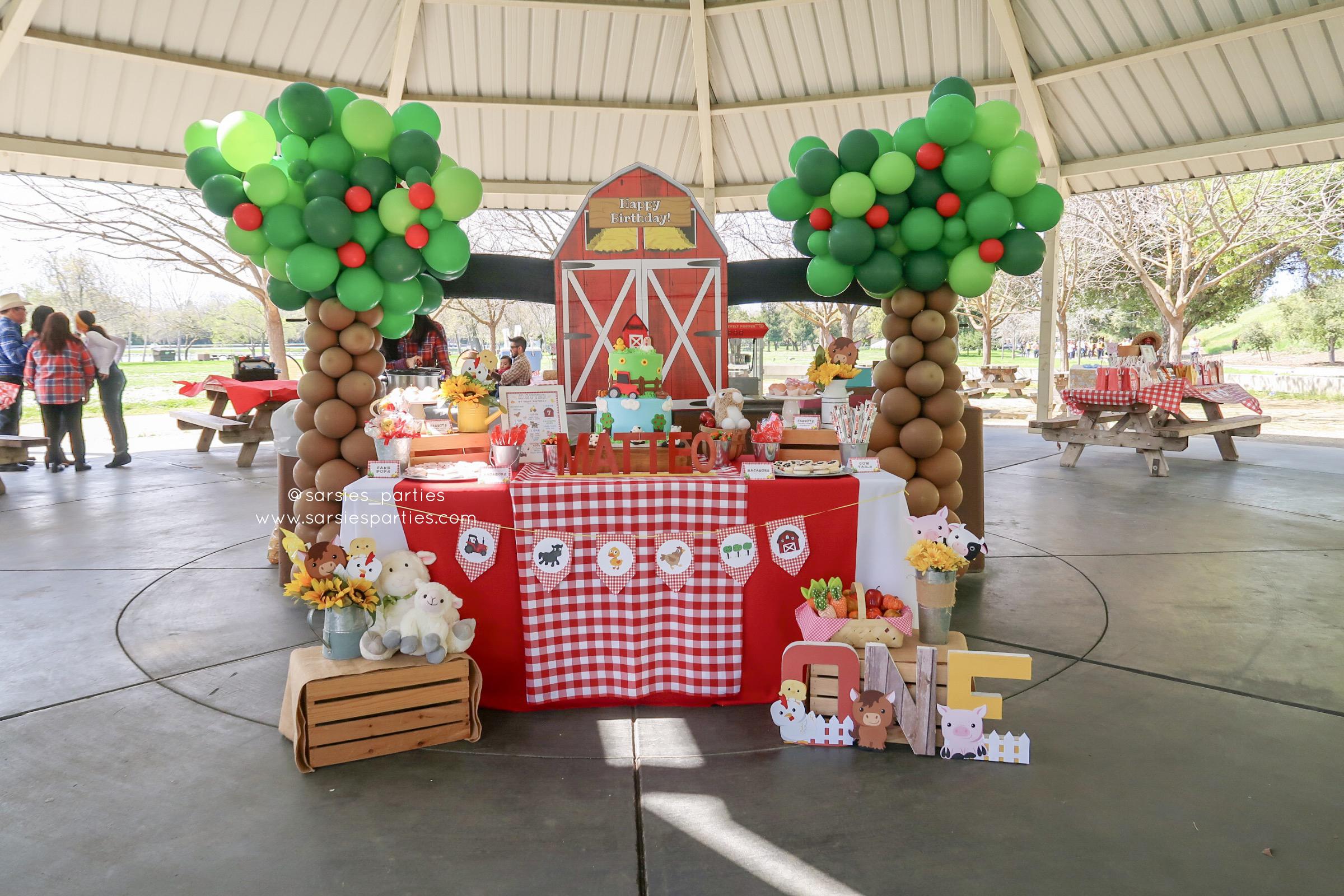 Sarsie's Parties 03-23-19 Barnyard 1st Birthday Party