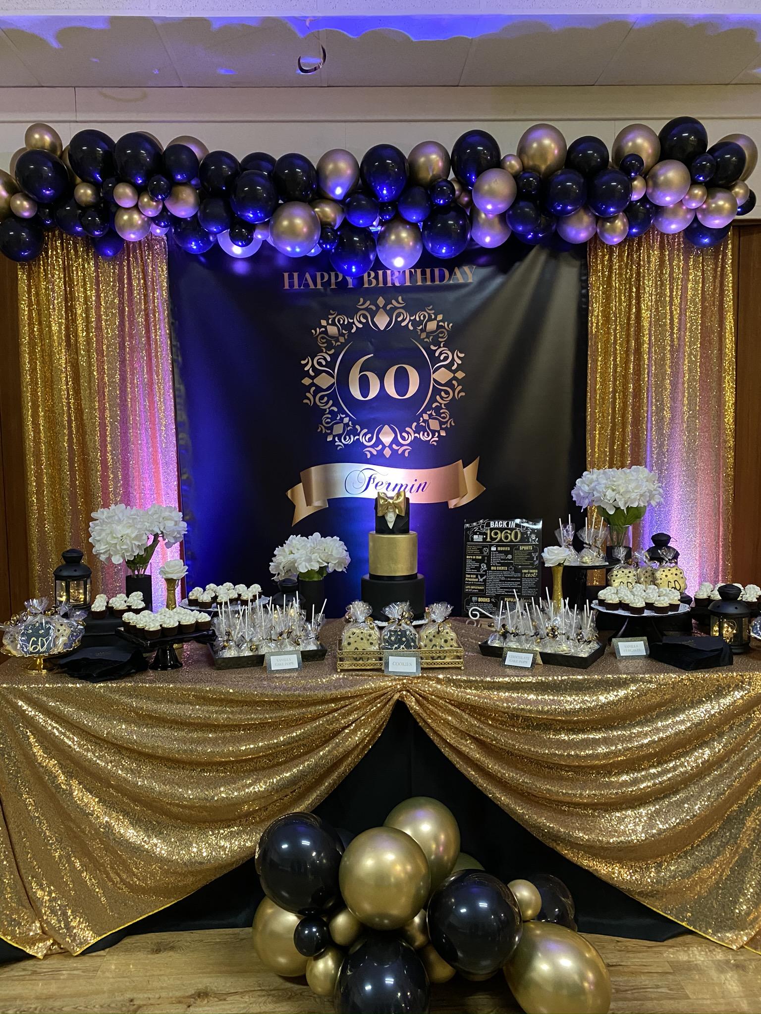 Sarsie's Parties 01-25-20 Black & Gold 60th Birthday Party