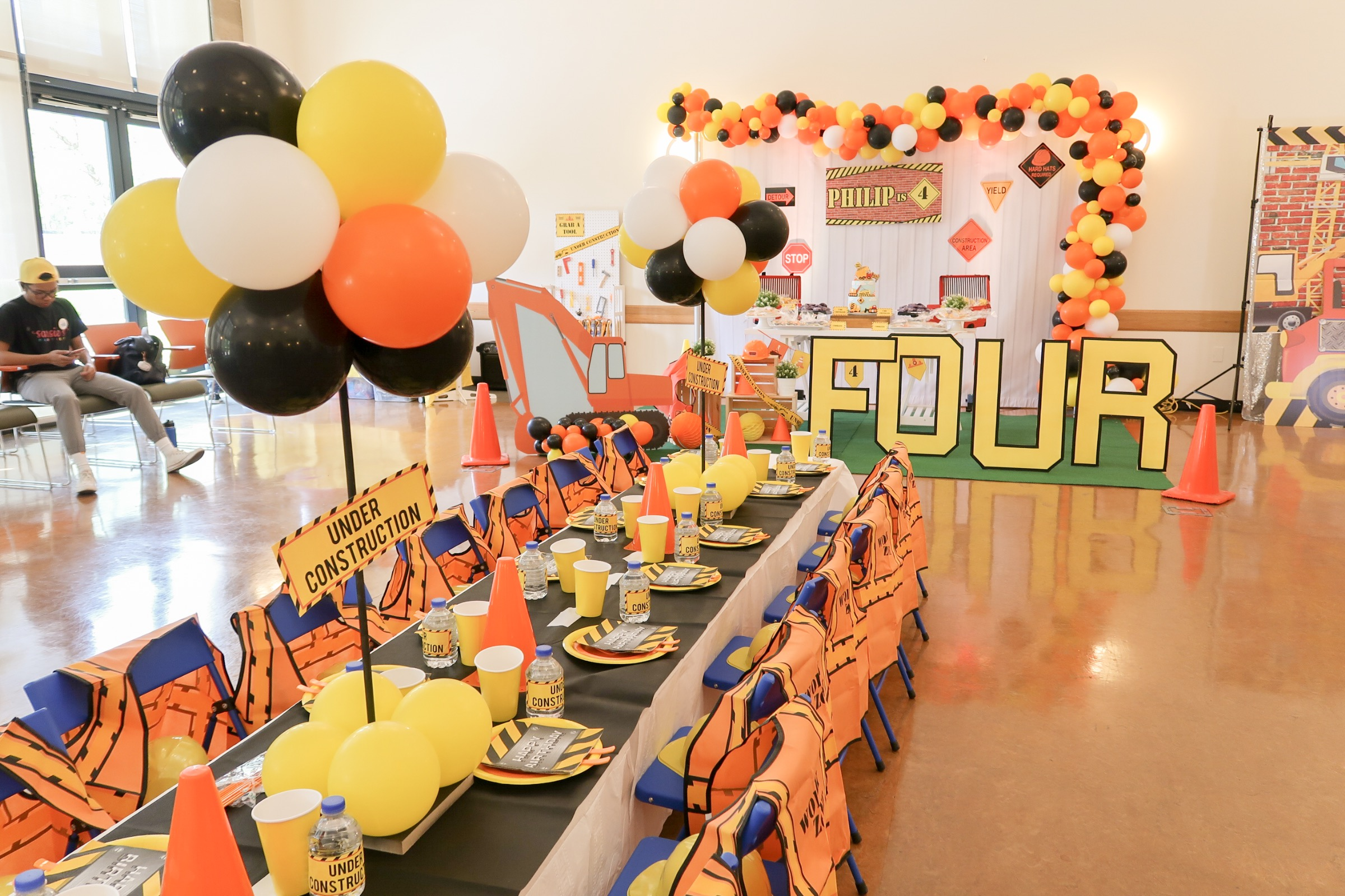 Sarsie's Parties 06-09-19 Construction Birthday Party