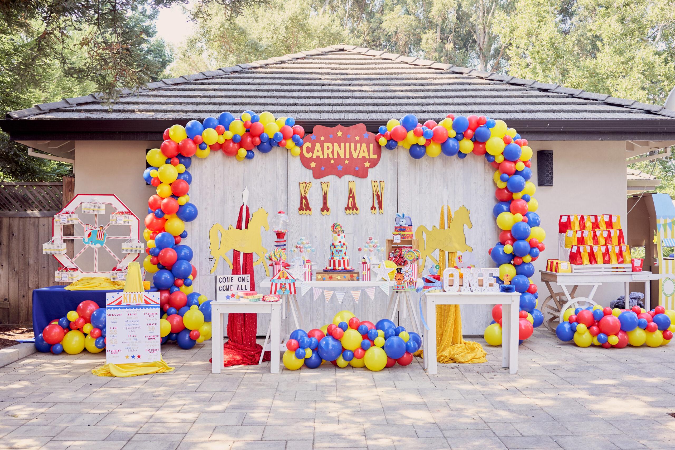 Sarsie's Parties 09-02-18 Carnival Birthday Party
